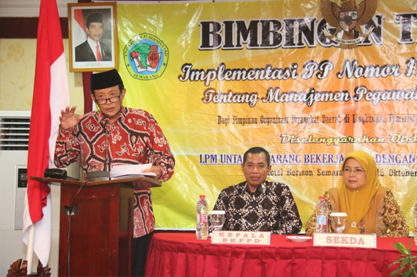 Plt. Walikota Tegal Instruksikan OPD Tingkatkan Capaian Kinerja
