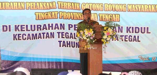 Pjs. Walikota Tegal Optimis Peskid Juarai Lomba Kelurahaan Pelaksana Gotong Royong Tk. Jateng