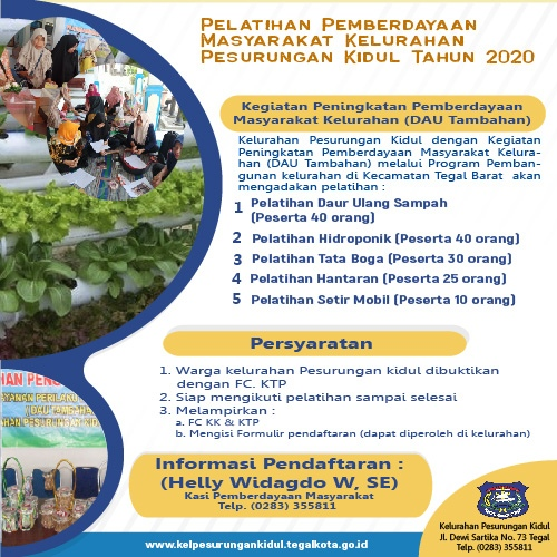 Pendaftaran Peserta Pelatihan Tahun 2020