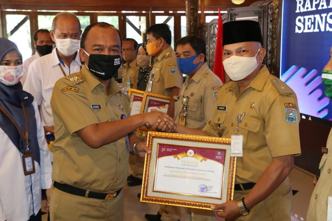 Kota Tegal Raih Peringkat Ketiga Capaian SPO Terbaik di Jawa Tengah