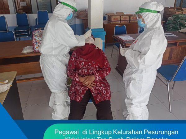 Swab Test Pegawai di Lingkungan Kelurahan Pesurungan Kidul