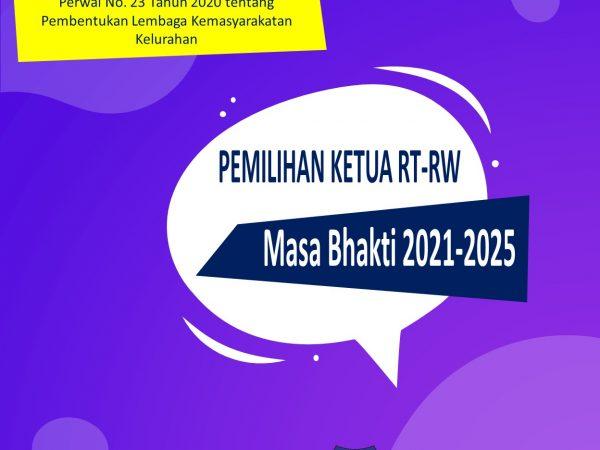 Kegiatan Pemilihan Ketua RT/RW baru masa Bhakti 2021-2025